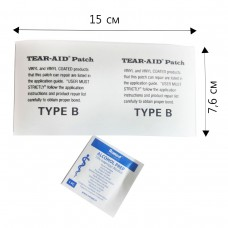 Тип B,  15 см. Tear-Aid, незаменимый пластырь для внутреннего и наружного ремонта