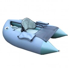 Inflatable boat-platform for fishers