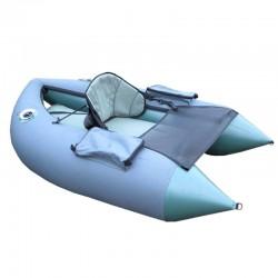 Inflatable boat-platform for fishers